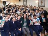 Un encuentro exitoso en el Colegio Manuel Belgrano, con la participación entusiasta de los chicos de 6to lectores de Detectives enBariloche